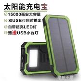 太陽能電充兩用充電寶大容量便攜戶外多功能快充移動電源蘋果華為小米安卓通用『koko時裝店』