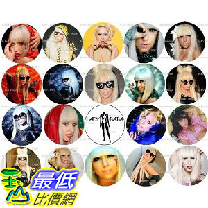 [美國代購]  Set of 20 LADY GAGA Pinback Buttons 1.25 Pins / Badges $659