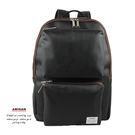 黑色多口袋後背包  AMINAH~【am-0302】