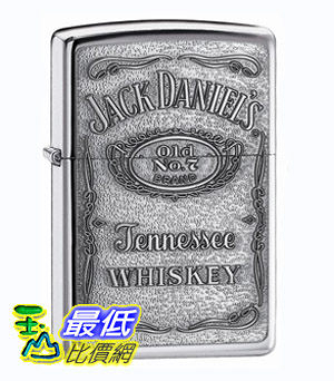 [美國直購 Shop USA] Zippo Jack Daniel s Label Pewter Emblem Pocket Lighte $1166