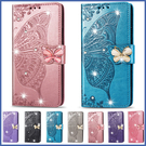 三星 Note10 Lite A71 A51 磁扣水晶蝴蝶 手機皮套 掀蓋殼 插卡 支架 可掛繩 保護套