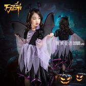 萬聖節兒童服裝女Cos恐怖吸血鬼披風公主裙女童裝扮衣服演出派對
