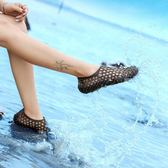 洞洞鞋 新款夏季潮流鏤空水鞋透氣沙灘洞洞外穿拖鞋子防滑軟底涼鞋男