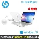 【改裝升級】HP Pavilion 14-ce3092tx 白銀 14吋輕薄筆電 (I5-1035G1/8G/240GSSD+1T/MX330-2G/W10/2Y)