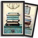 美式鄉村裝飾畫沙發背景牆三聯客廳書房臥室...