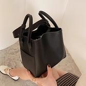 手提水桶包 包包女大容量2021新款潮時尚質感女神菜籃子手提包百搭單肩斜挎包
