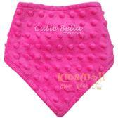 Cutie Bella 豆豆領巾圍兜Rose Pink