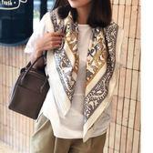 [大方巾]沒人會拒絕的日系溫婉 高雅經典 真絲斜紋綢披肩絲巾圍巾