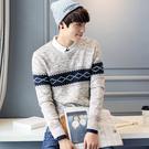 男款男裝冬裝冬天保暖冬季打底衫 型男針織衫加絨 男生毛衣長袖加厚 長袖厚款男士毛衣上衣