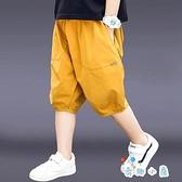 男童短褲夏季薄款運動五分褲中大童外穿寬鬆【奇趣小屋】