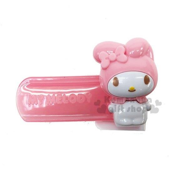 〔小禮堂〕美樂蒂 造型塑膠牛奶盒封口夾《粉》密封夾.保鮮夾.銅板小物 4573135-58090