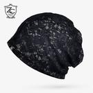 蕾絲帽子女薄款鏤空頭巾帽時尚韓英倫法式包頭帽青年出游夏季圍脖 小山好物