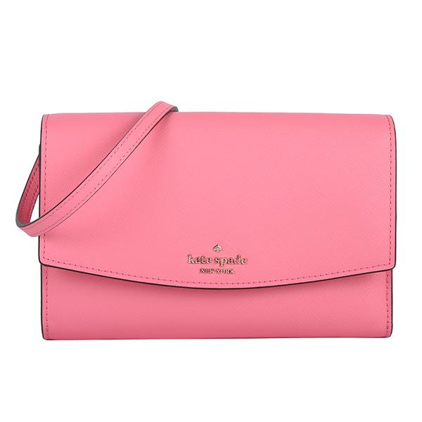 Kate Spade防刮皮革小型手機斜背包(粉紅色)221116-2