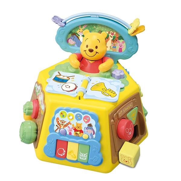 特價 迪士尼幼兒 維尼音樂益智盒 七面遊戲機_DS12846