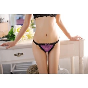 ST-Select★性感❤華麗風性感水鑽金屬釦子誘惑丁字褲★貼身衣物