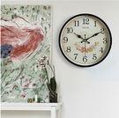 時鐘 凱諾時歐式掛鐘 客廳鐘表臥室靜音時鐘掛表簡約現代田園石英鐘表 免運 艾維朵