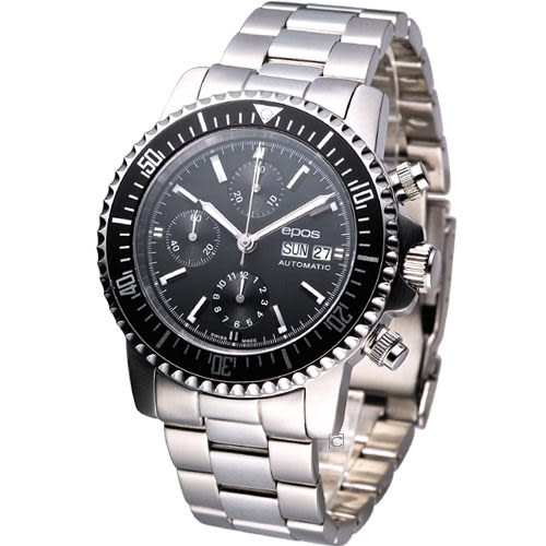 EPOS 運動玩家自動機械計時腕錶 3365.228.20.15.30