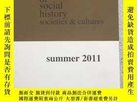 二手書博民逛書店journal罕見of social history socie