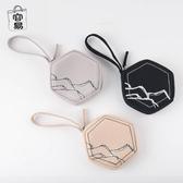 帆布零錢包迷你硬幣包六角立體創意鑰匙包個性小卡包女 青木鋪子