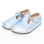 【Jingle】新貓咪奇緣全包款軟木鞋(牛仔藍大人款)