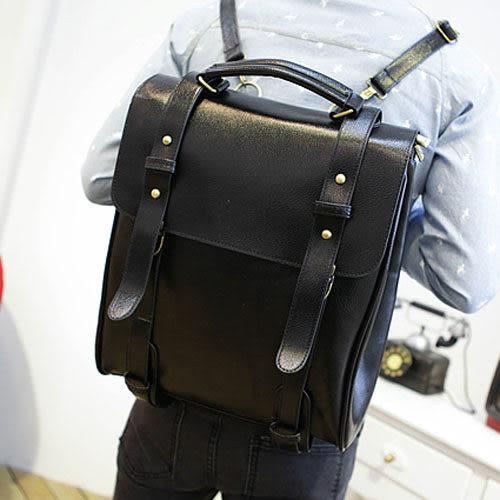 PocoPlus 韓系後包 2015新款 POTER韓版後背包 書包 定型款 輕皮紋 雙肩背包李敏鋯【B260】