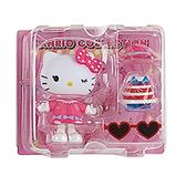 Sanrio 換裝娃娃組 擺飾玩偶 公仔 HELLO KITTY 愛心眼鏡 粉