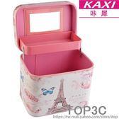 咔犀復古化妝包大容量化妝品收納包防水 首飾盒收納化妝箱包「Top3c」