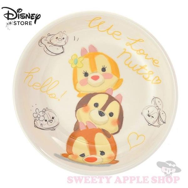日本 DISNEY STORE限定  迪士尼 TSUM TSUM 奇奇 蒂蒂 克莉絲 圓型餐盤