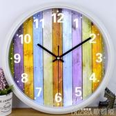 掛鐘 鉑晨鐘錶時尚掛鐘臥室卡通時鐘圓創意掛錶簡約現代客廳靜音石英鐘 歌莉婭YYJ