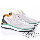 ★2019春夏★Keeley Ann輕運動潮流 撞色疊層個性休閒鞋(白色) -Ann系列
