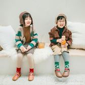 秋冬款加厚加絨保暖寶寶棉襪聖誕兒童襪子女童中筒棉襪 深藏blue