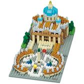《 Nano Block 迷你積木 》【世界主題建築系列】NBH-152 凡蒂岡╭★ JOYBUS玩具百貨