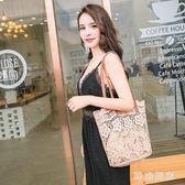 蕾絲包女2018新款手提包購物袋鏤空沙灘包復古刺繡單肩包女包手袋 st3715『時尚玩家』