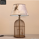 INPHIC- 美式鄉村布藝創意鳥籠盆栽溫馨臥室床頭復古鐵藝裝飾檯燈_S197C