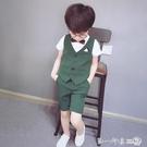 兒童主持人服裝男童小西裝套裝走秀幼兒園花童禮服夏季帥氣英倫風第一印象