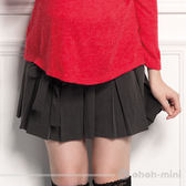 【ohoh-mini孕婦裝】心機女孩百折低腰綁帶孕婦褲裙