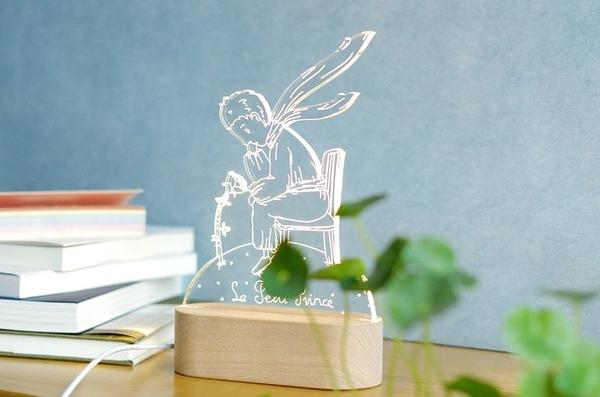 暮光記 北歐創意生日禮品臺燈 3D小王子的玫瑰花小夜燈