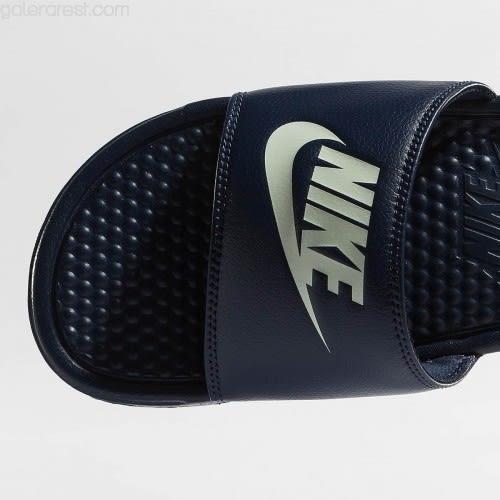 NIKE BENASSI JDI 基本款深藍拖鞋 NO.343880403