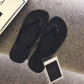 新款黑色人字拖夾腳涼拖鞋夏平底防滑沙灘鞋