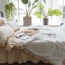 繽紛佳人 DS3雙人床裙與雙人鋪棉兩用被四件組 100%精梳棉