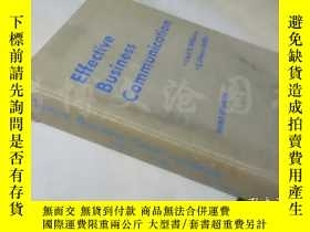 二手書博民逛書店Effective罕見Business Communication Third Edition 【16開精裝 英文