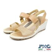 【IMAC】時尚優雅楔型低跟涼鞋  淺膚色(72500-BE)