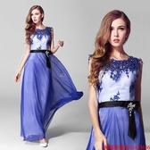 (45 Design) 訂做款式7天到貨 歐美蕾絲 時尚 性感 顯瘦優 雅外貿晚禮服長款 晚宴服a14