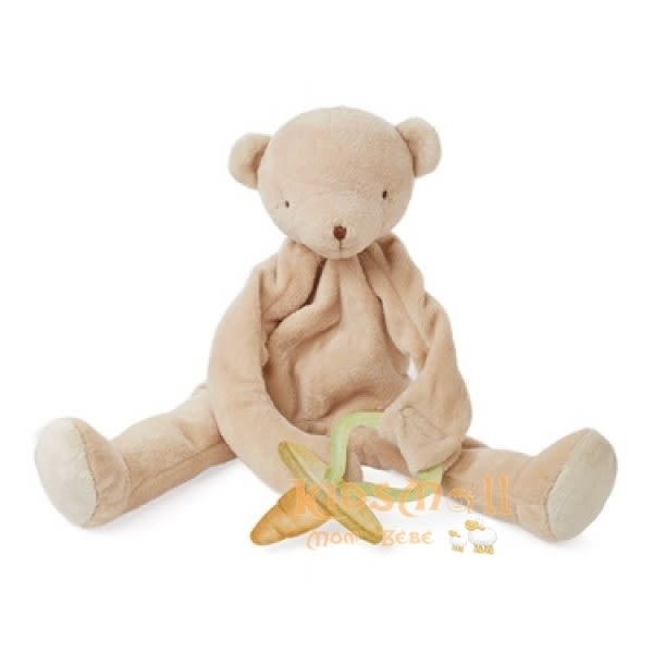 美國Bunnies By The Bay海灣兔,寶寶熊搖鈴長身玩偶,可掛奶嘴玩具,Bao Bao Bear Silly Buddy-Warm Honey