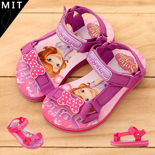 女童 蘇菲亞小公主 Sofia the First 魔鬼氈防滑海邊必備 海灘涼鞋 MIT製造 正版授權 59鞋廊