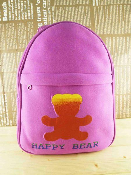 【震撼精品百貨】日本綜合熊_HAPPY BEAR~後背包『桃紫』