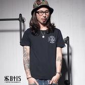 【BTIS】蜜蜂背圖 圓領T-shirt / 黑色