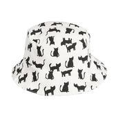 比利時 Trixie 有機棉遮陽帽/童帽~黑白貓咪(48/50/52cm)