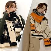 2021新款圍巾女冬季百搭仿羊絨披肩外搭兩用加厚保暖韓版圍脖春秋 范思蓮恩