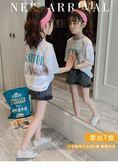 女童上衣女童短袖T恤新款夏裝大兒童裝時髦半袖上衣女孩夏季體恤洋氣 歐歐